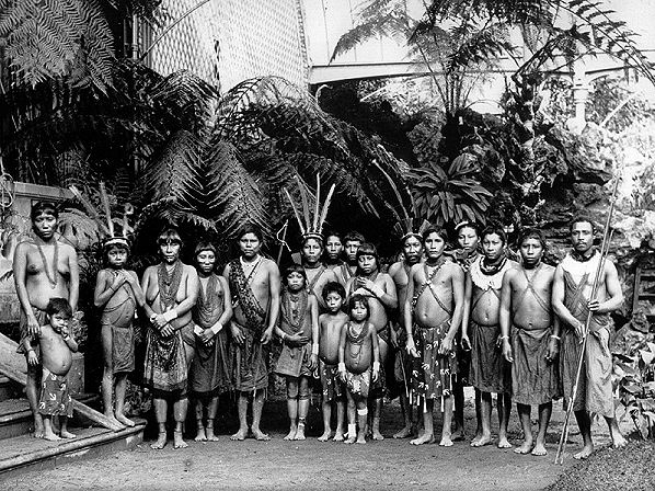Native families from French Guiana and Suriname in the 19th century.